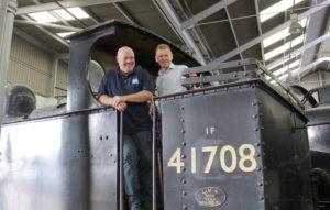 (left to right) Mervyn Allcock and Duncan Shepherd on No 41708.