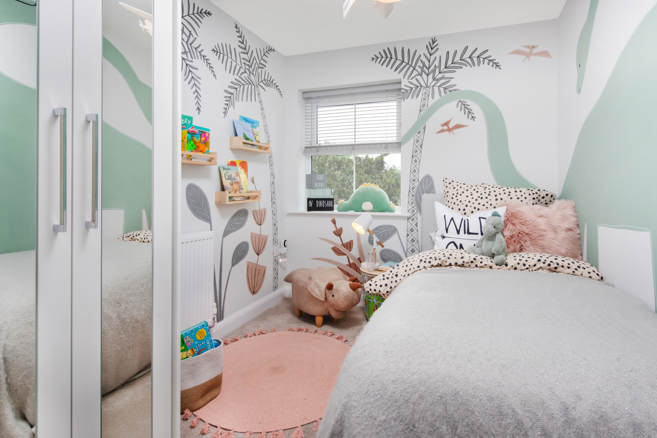 Dwem 010 Bem Fleckneyfields Hadley 3bed The Dinosaur Themed Bedroom In The Hadley Style Show Home At Fleckney Fields Business Shows Group